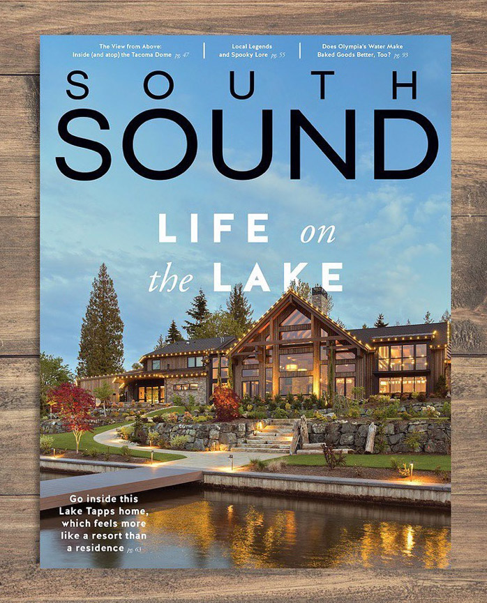 Architectural Photography, Seattle area luxury home, cover photography for South Sound Magazine